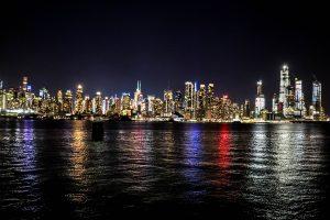 manhattan de nuit à new york