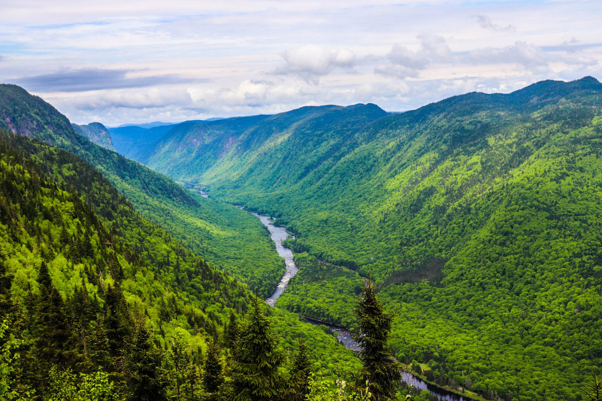 Québec, parc national Jacques Cartier