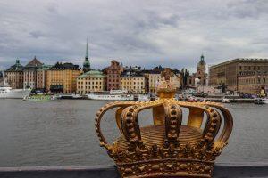 Skeppsholmsbron, couronne sur un pont