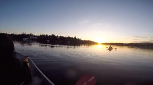 Kayak au québec sur le lac clair