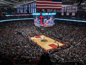Le Scotiabank Arena où jouent les raptors