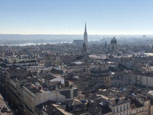 vue en haut de la tour pey berland
