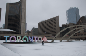Nathan Philips Square place à toronto