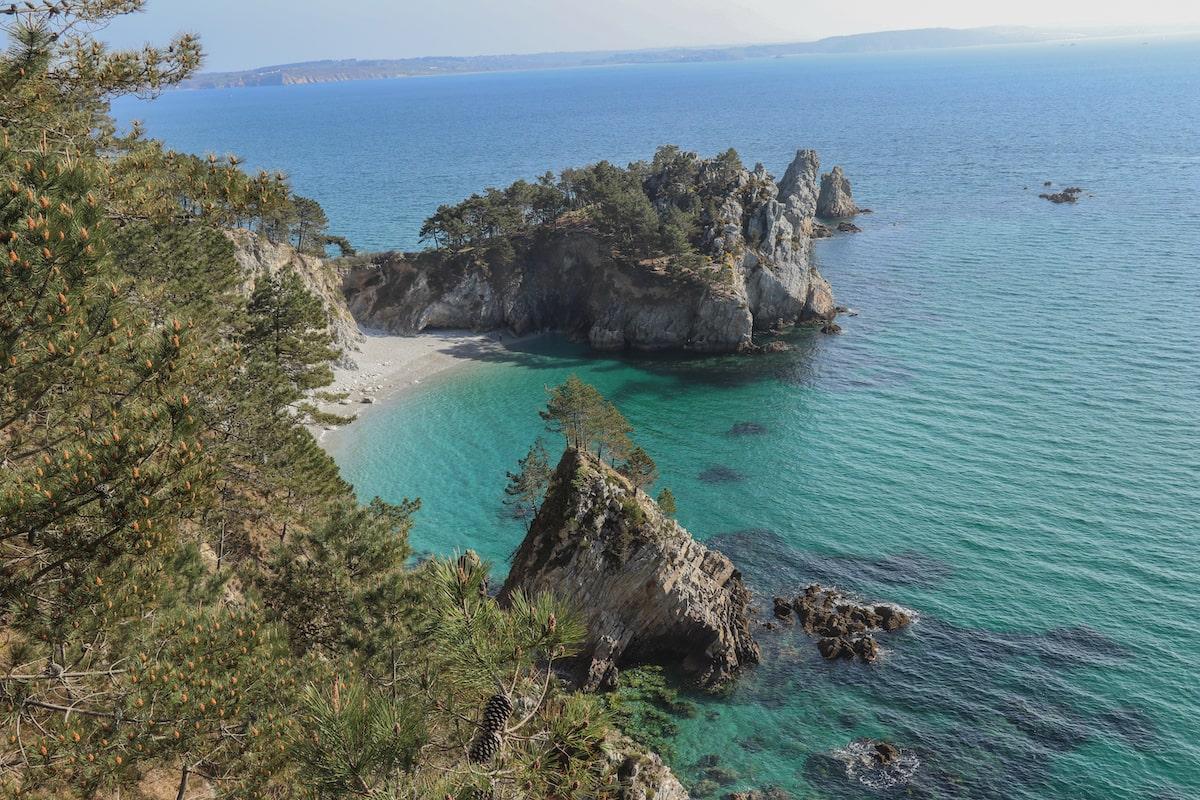 plage de l'île vierge