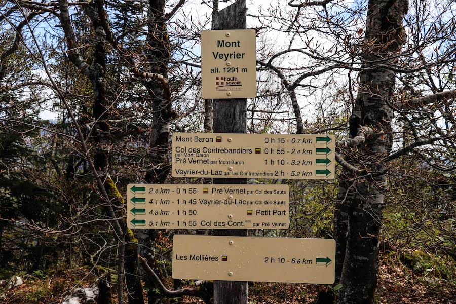 randonnée mont veyrier